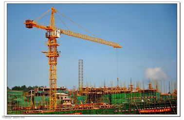 China Self Erecting Construction Tower Crane With Steel Structure 4.25 - 80 m/min Hoisting Speed supplier
