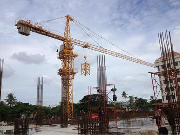 China QTZ125 ( 6015 ) Construction Tower Crane 60m Boom Length and Split Mast Section supplier