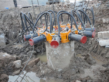 China TYSIM KP380A Round Hydraulic Pile Breaker Construction Equipment for Concrete Pile Crushing supplier