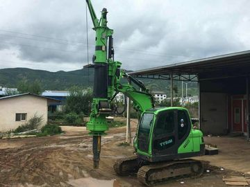 China Construction Stratum Bored pile rig machine , Pile Driving Machinery Mini Hydraulic Piling Rig Max Torque 40kNm supplier