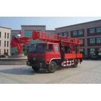 China Portable Truck Mounted Water Well Drilling Rig , Hole Depth 300m - 600m supplier