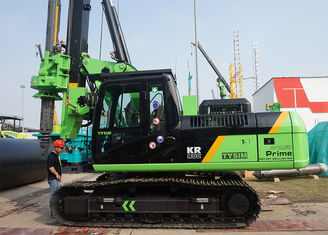 China Mobile CNC Hydraulic Piling Rig , Operating Height 14660mm KR90C supplier