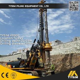 China Diameter 1000mm 32m Friction Kelly Bar Piling Rig Machine TYSIM KR90C supplier