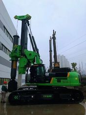 China Piling equipment hire Green Color Compact Pile Driver Machine , Mini Piling Rig Diameter 2500mm supplier
