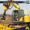 Multifunction 16m Foundation Pile KR50 Excavator Auger Drilling Rig / Well Bore Pile Drilling Rig
