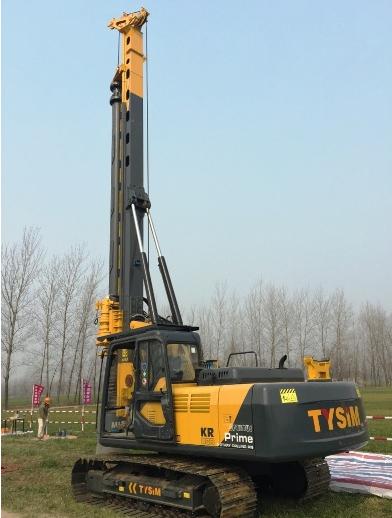 TYSIM, pile driver KR80A, construction equipment