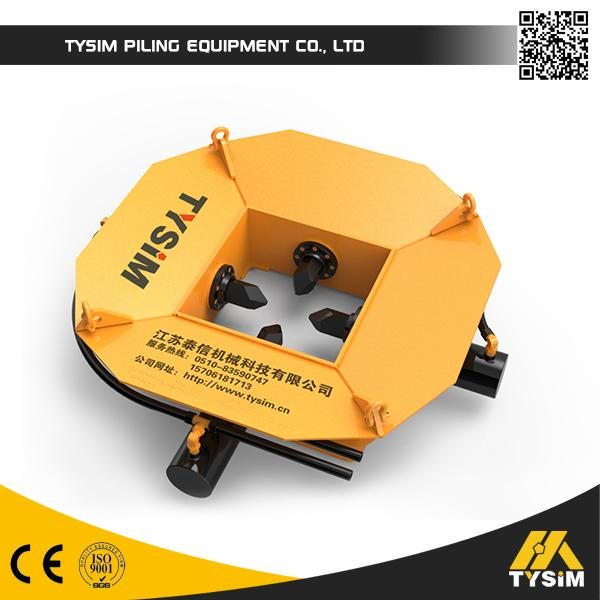 Steel Casing Module Round Concrete Pile Breaker Machine For Crushing Foundation Construction Piles