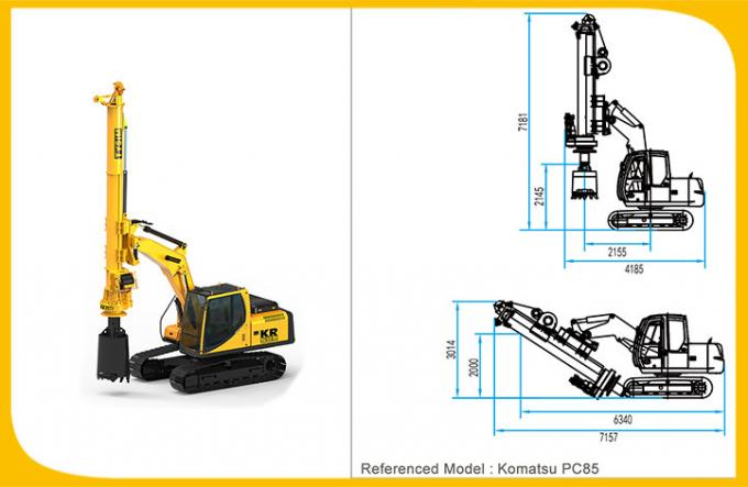 TYSIM Drilling 16m depth foundation pile machine KR50 Excavator Drilling Attachment Mini piling rig