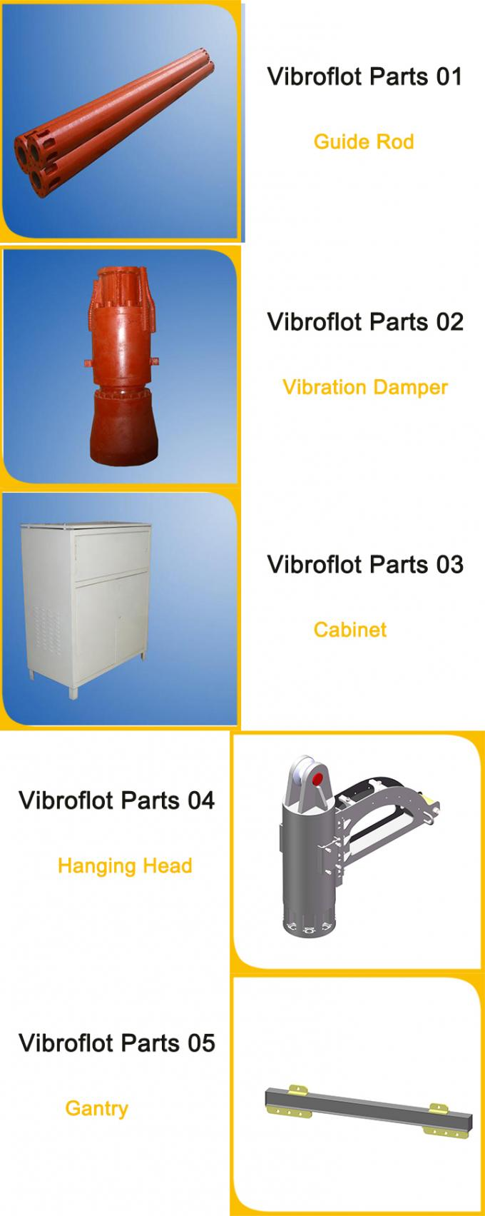Vibroflot Equipment For Vibroflotation Compaction Of Cohesionless Soils / Ground Improvement Engineering