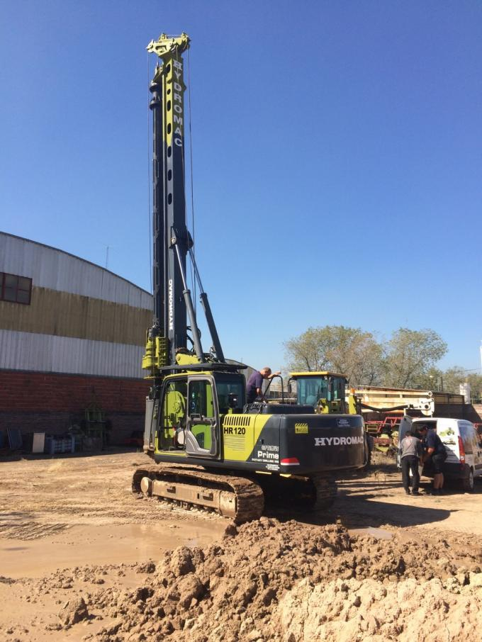 Hydraulic Rotary Pile Foundation Drill Rigs , 80 kN crowd