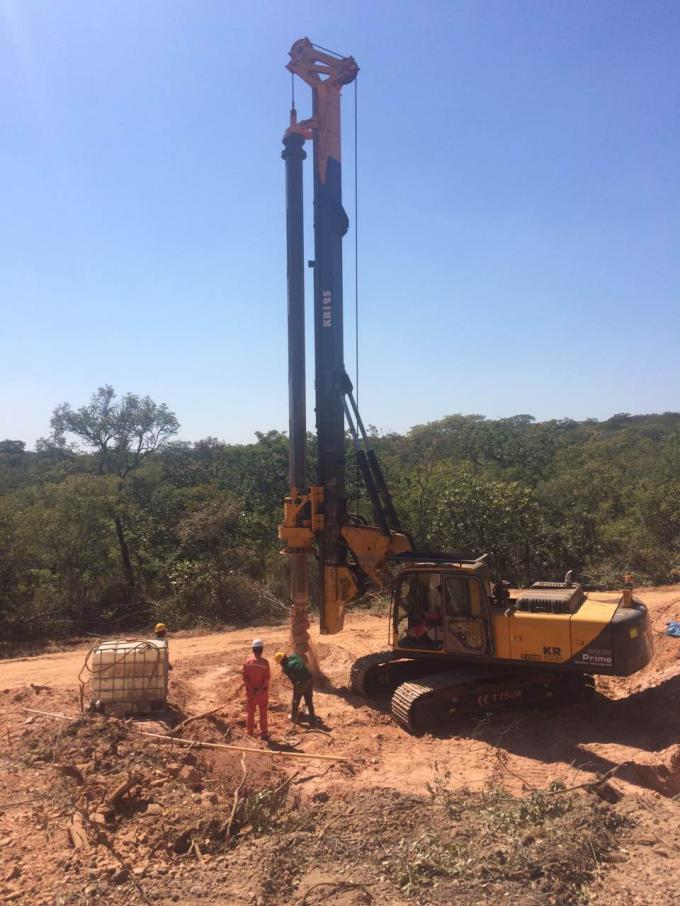 Borehole Pile Rig Equipment Total Weight 24 Ton , Max