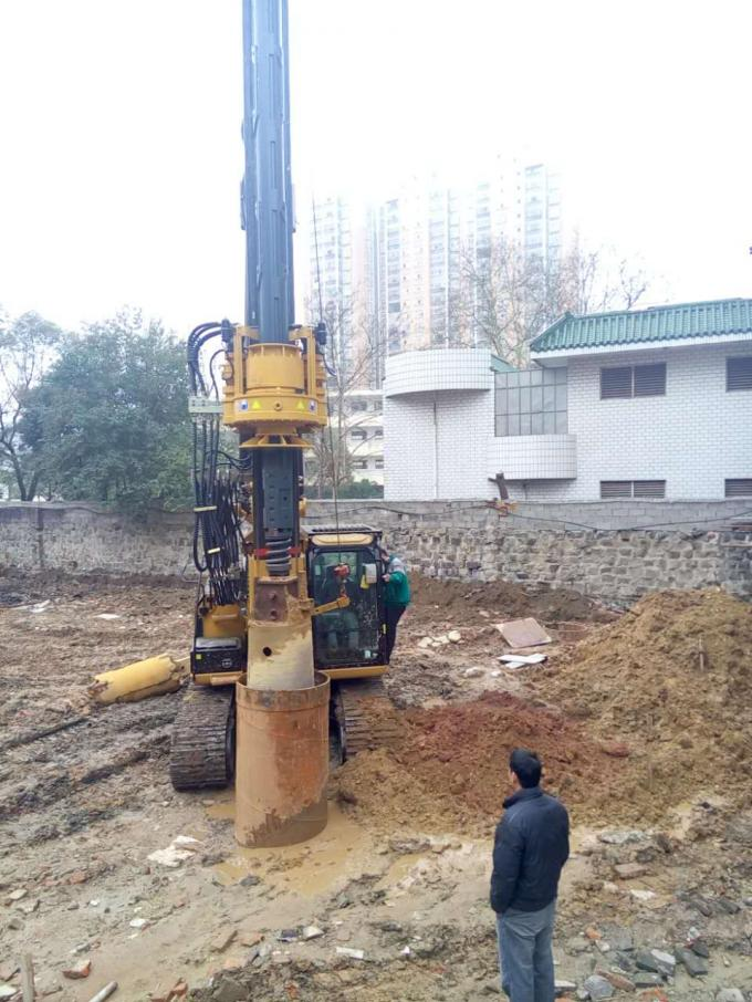 Piledriver Construction Hydraulic Piling Machine , 24m Pile Driver Equipment Foundation KR60C