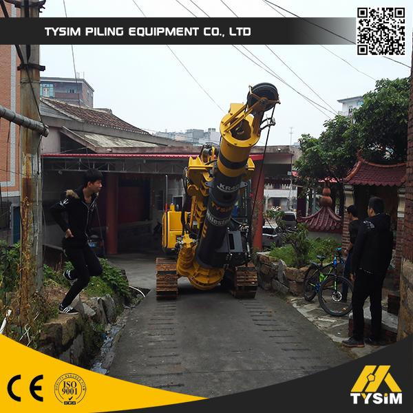Small Hydraulic Rotary Piling Rig Borehole Pile For Different Construction Stratum