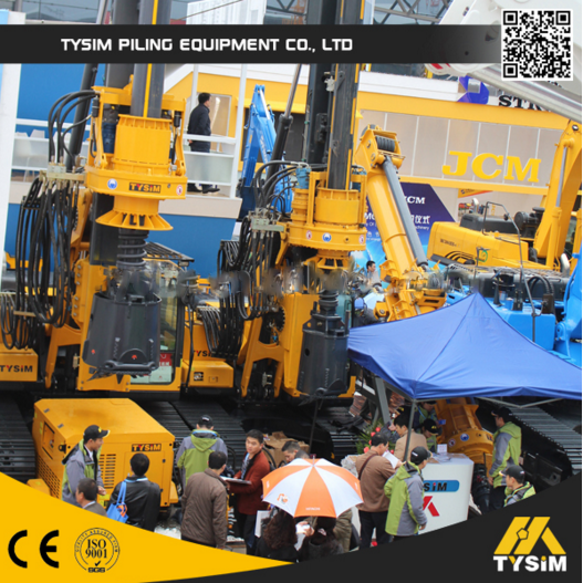 Rotary Drilling Rig With Caterpillar Chassis For Road Construction Equipment