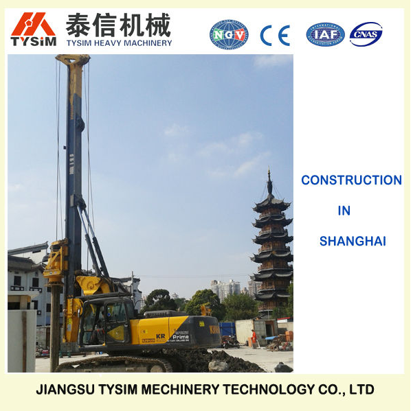 37m / 45m Drilling Depth Bored Pile Equipment , Foundation Drill Rigs 34 T Overall Weight