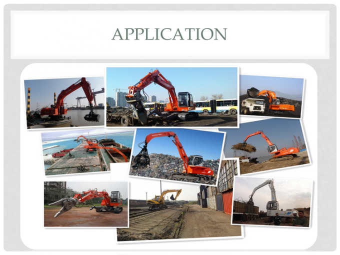 9 Ton Hydraulic Material Handling Equipment / Crawler Excavator YC4D85Z Engine