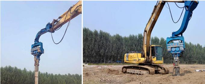 300mm Prestressed Concrete Pipe Vibratory Pile Hammer High Frequency Vibratory Pile Hammer / Driver