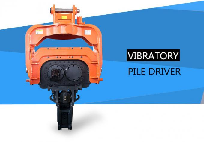 Precision Vibratory Pile Hammer Excavator Hydraulic Pile Driver 3000rpm Piling Equipment