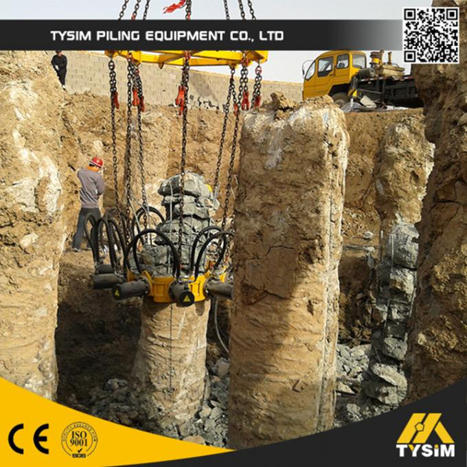 Cutting diameter 1050mm concrete pile machine KP315A excavator tooling round pile cutter