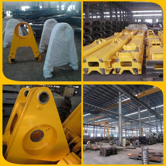 Excavator rotating clamshell grapple bucket for telescopic arm
