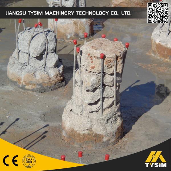 KP315A Concrete Pile Machine , Excavator Tooling Round Concrete Pile Cutter Cutting Diameter 1050mm