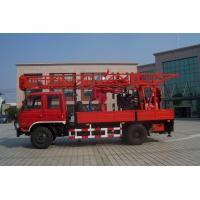 Portable Truck Mounted Water Well Drilling Rig , Hole Depth 300m - 600m