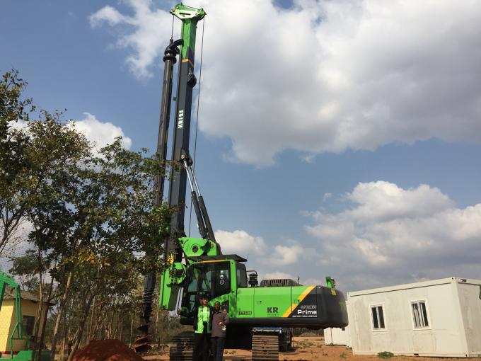 Auxiliary Winch Line Pull 60 kN Hydraulic Piling Rig