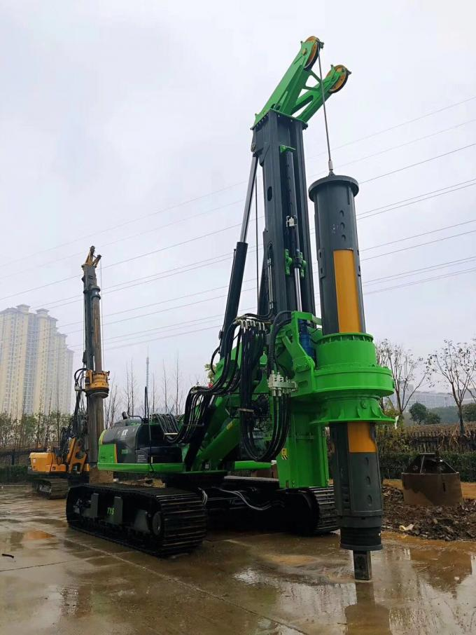 Piling equipment hire Green Color Compact Pile Driver Machine , Mini Piling Rig Diameter 2500mm