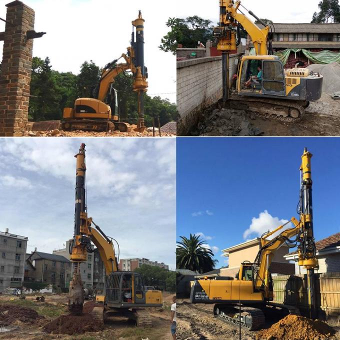 KR50A Green Hydraulic Piling Rig Machine , Bored Hole Pile Driver Machine