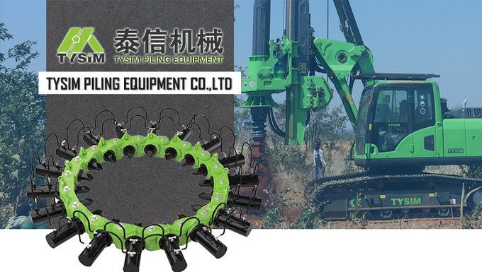 280kn Max Rod Pressure Pile Cutter Machine 135mm Crowd Stroke Hydraulic Pile Cutter 0