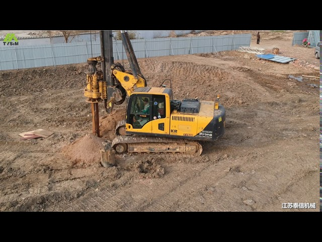 1000 mm Max drilling diameter Hydraulic Pile Driving Equipment Rental With CAT Chassis