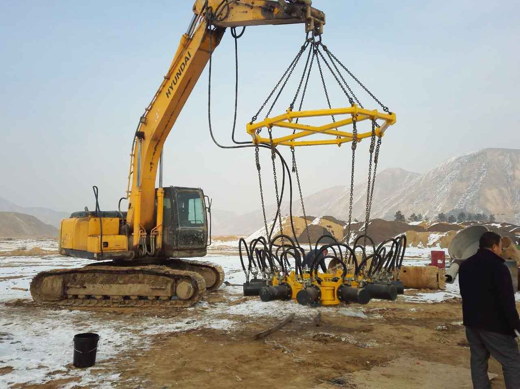 Hydraulic Pile Breaker For Round Concrete Pile Cutting Machine 600 - 1800mm Pile Diameter