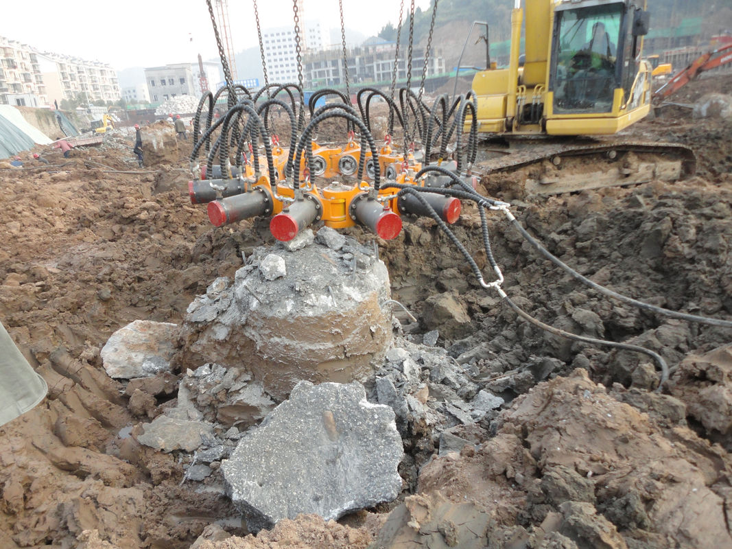 Excavator Mounted Concrete Pile Breaker For Pile Foundation Engineering KP380A