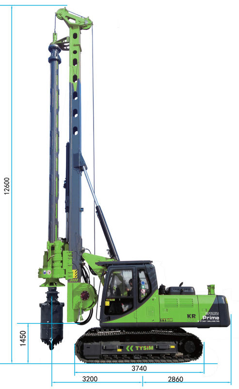 Durable Mobile Pile Driving Equipment Max Torque 80 kN.m