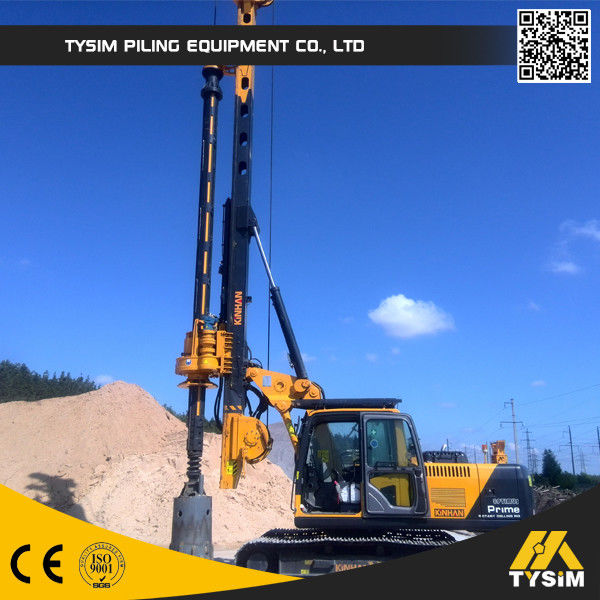 318D Excavator Drilling Attachment  KR90C Piling Rig , Borewell Drilling Machine