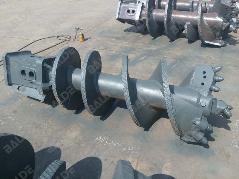 Tungsten Hydraulic Earth Auger For Tractor / Gearbox