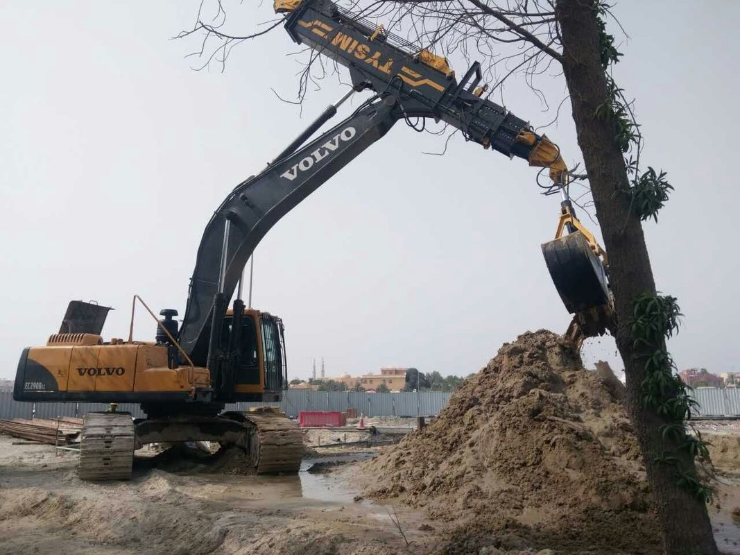 Low Noise Excavator Rotating Clamshell Grapple Bucket For