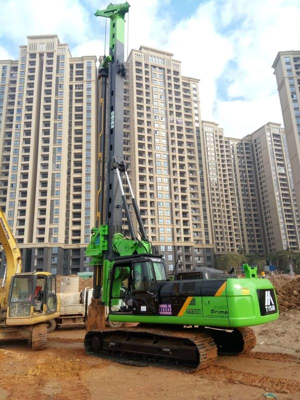 TYSIM KR150C Rotary Piling Rig , Pile Driving Machinery With Rotation Speed 7~26 rpm