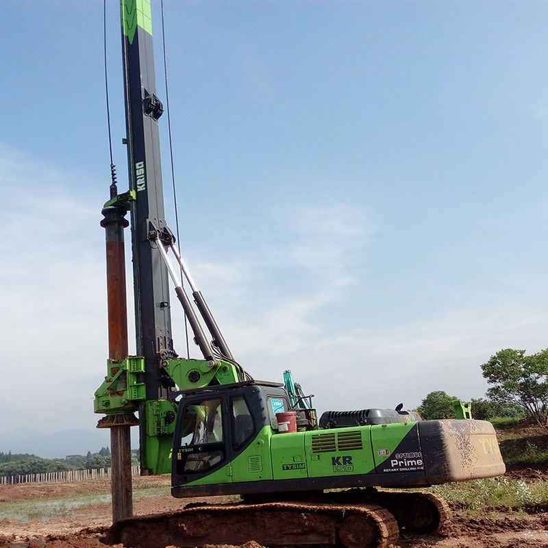 Drilling Depth 15 m Rotary Piling Rig For Micro Piling