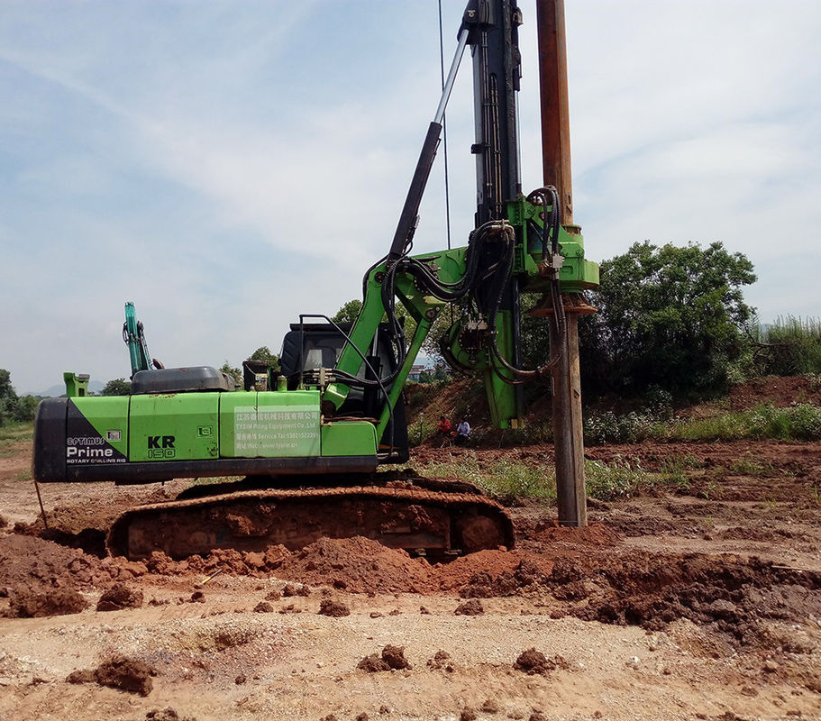 KR125C Hydraulic Piling Rig With Torque 125KN . M And Drilling Depth 43m