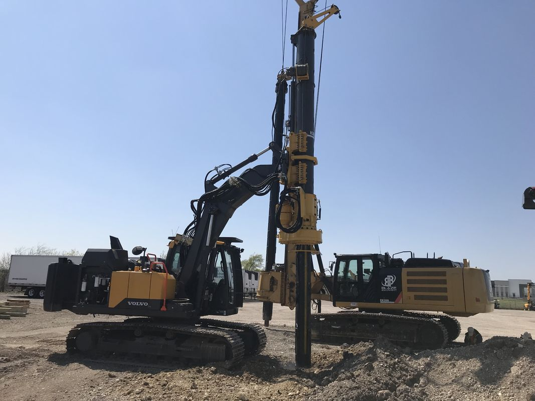 KR50A Micro Rotary Piling Rig Depth 24m Piling Bored Hole Equipment