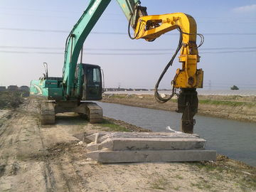 China Excavator Mounted Mini Integrated Vibratory Pile Hammer Construction Equipment Pile Driver factory