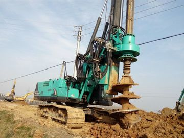 China Durable Mobile Pile Driving Equipment Max Torque 80kNm KR80K Rotary Piling Rig Machine factory