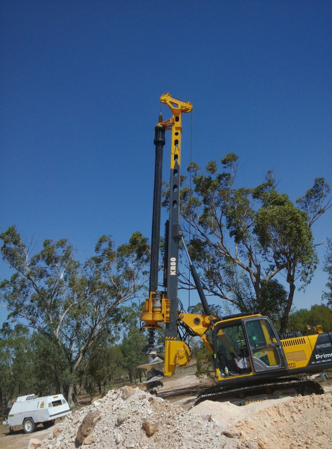28m Foundation Rotary Piling Rig , Bore Pile Foundation Equipment CE / ISO9001