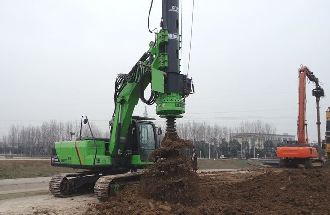 KR50 Hydraulic Piling Rig Machine Hire with excavator drilling attachment max depth 24m