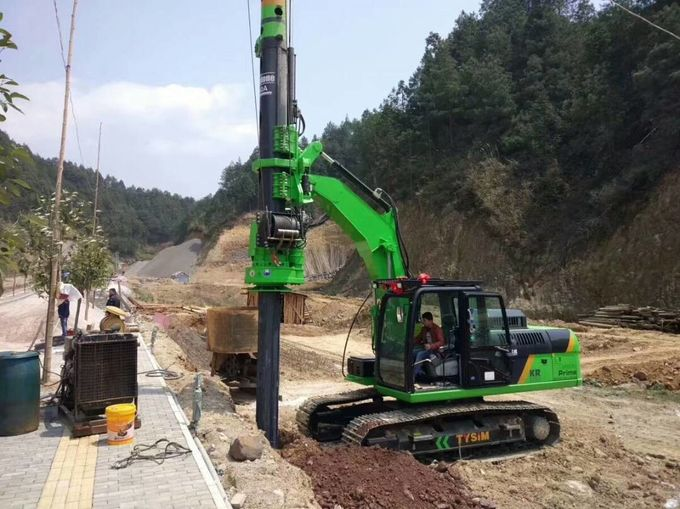 50KN Hydraulic Piling Rig 1200mm Drilling Diameter And 20m Depth Pile Machine
