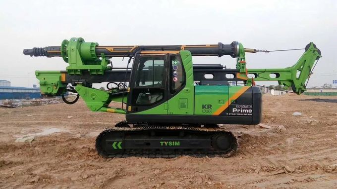 1000 mm Max drilling diameter Hydraulic Pile Driving Equipment Rental With CAT Chassis 2